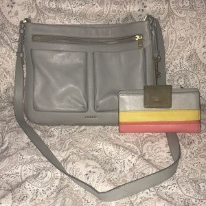 Fossil Crossbody & Matching Wallet
